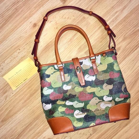 Dooney & Bourke Handbags - NWOT Dooney & Bourke Cayden Medium Tote Camo Duck